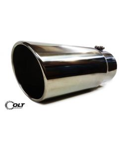 "Exhaust Tip 5"" Inlet - 6"" Outlet - 15"" Long - Bolt On Diesel Stainless Steel"