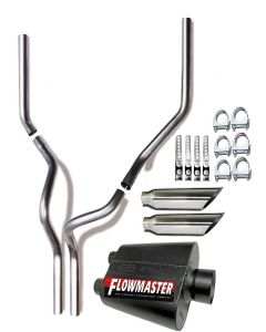 2005 Ford F-150 dual tail pipes performance exhaust system kit With Flowmaster Muffler